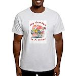 Grandpa Biker Ash Grey T-Shirt