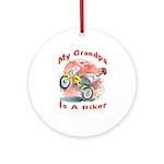 Grandpa Biker Ornament (Round)