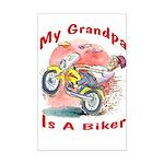Grandpa Biker Mini Poster Print