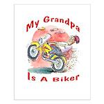 Grandpa Biker Small Poster