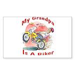 Grandpa Biker Rectangle Sticker