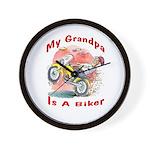 Grandpa Biker Wall Clock