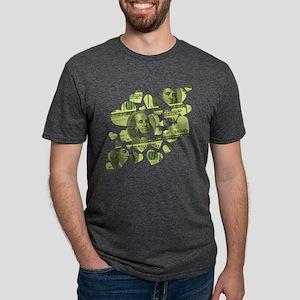 100-dollar-hearts Mens Tri-blend T-Shirt