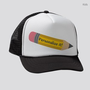 PERSONALIZED Cute Pencil Kids Trucker hat