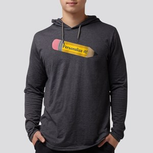 PERSONALIZED Cute Pencil Mens Hooded Shirt
