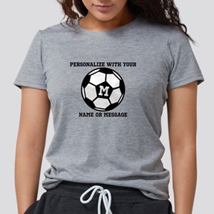 PERSONALIZED Soccer Ball Womens Tri-blend T-Shirt