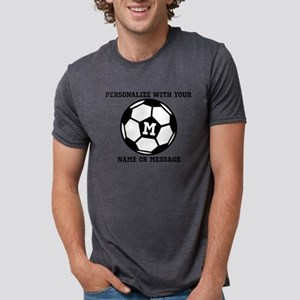 PERSONALIZED Soccer Ball Mens Tri-blend T-Shirt