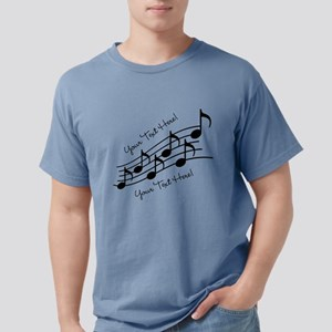 Music Notes PERSONALIZED Mens Comfort Colors Shirt