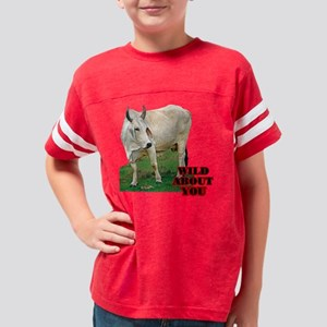 wild about cow Youth Football Shirt