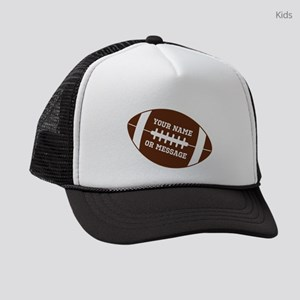 YOUR NAME Football Kids Trucker hat