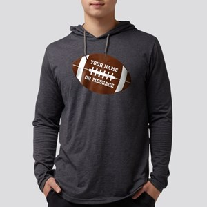 YOUR NAME Football Mens Hooded Shirt