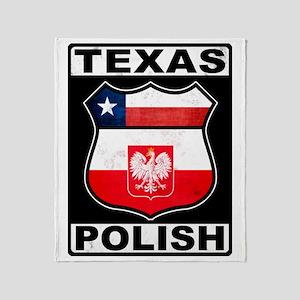 Texas Polish American Throw Blanket
