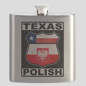 Texas Polish American Flask