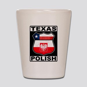 Texas Polish American Shot Glass
