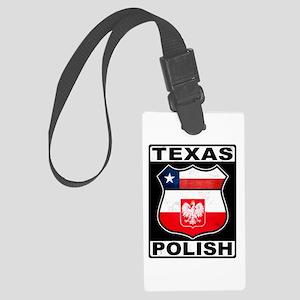 Texas Polish American Luggage Tag