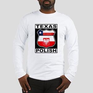 Texas Polish American Long Sleeve T-Shirt