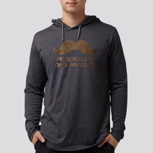PERSONALIZED Brown Mustache Mens Hooded Shirt