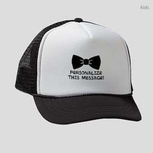 PERSONALIZED Cute Bow Tie Kids Trucker hat
