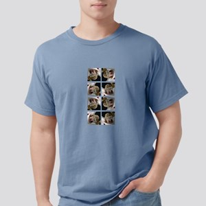 8 PHOTO Collage On White Mens Comfort Colors Shirt