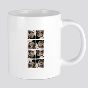 8 PHOTO Collage On White 20 oz Ceramic Mega Mug