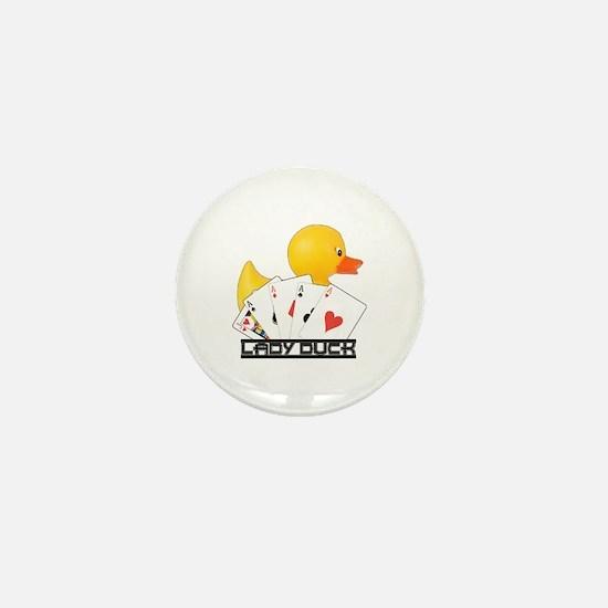 Lady Duck Poker Mini Button