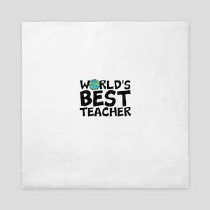 World's Best Teacher Queen Duvet