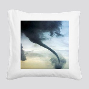 Tornado Square Canvas Pillow