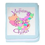 Yujiang China Map baby blanket