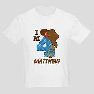 4th Birthday Cowboy Personalized T-Shirt