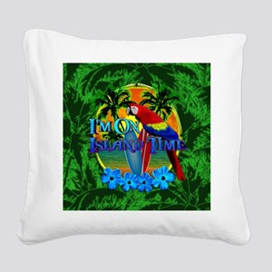 Island Time Surfboards Square Canvas Pillow