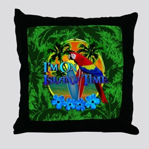 Island Time Surfboards Throw Pillow