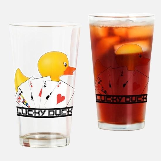 Lucky Duck Poker Drinking Glass