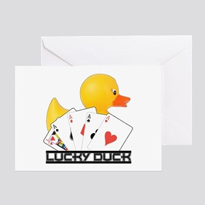 Lucky Duck Poker Greeting Card