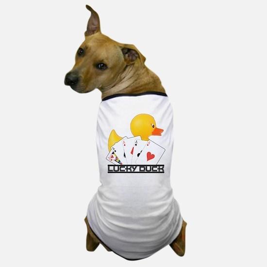 Lucky Duck Poker Dog T-Shirt