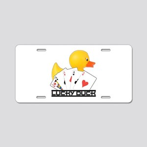 Lucky Duck Poker Aluminum License Plate