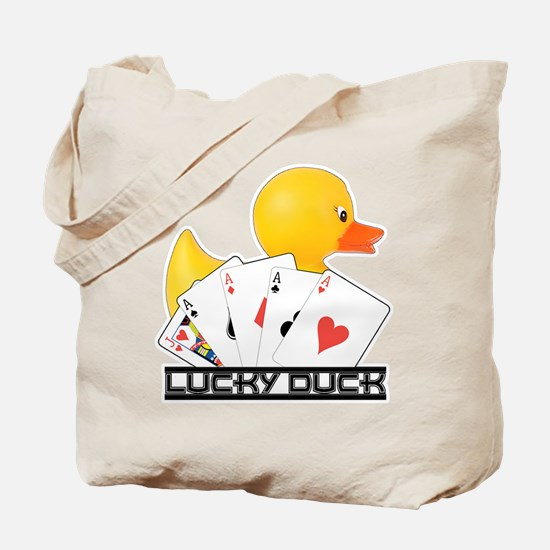 Lucky Duck Poker Tote Bag