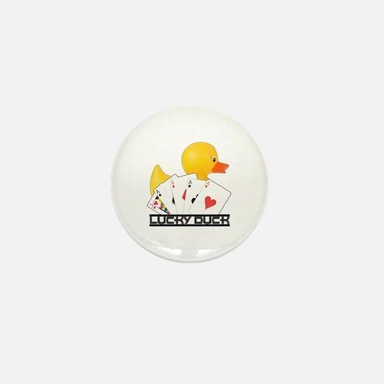 Lucky Duck Poker Mini Button