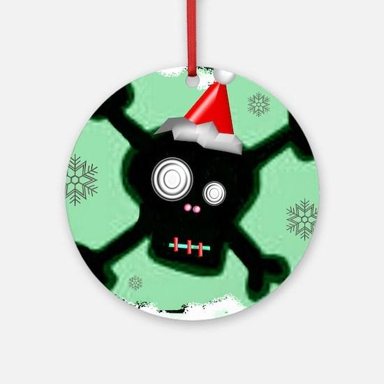 Skull & Crossbones Xmas Ornament (Round)