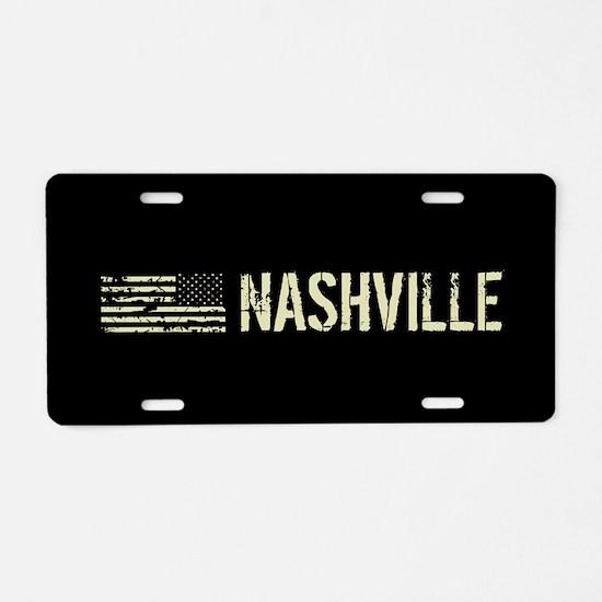 Black Flag: Nashville Aluminum License Plate