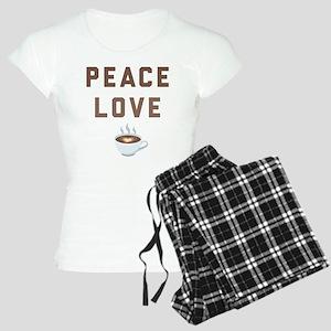 Peace Love Coffee Emoji Women's Light Pajamas