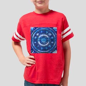 Neon Blue Roman Youth Football Shirt