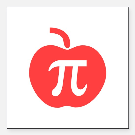 "Apple Pi Square Car Magnet 3"" x 3"""