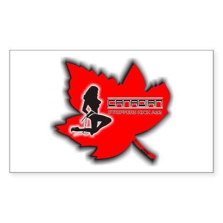 Canadian Strippers Kick Ass 2 Sticker (Rectangular