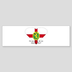 Alderney fan flag Bumper Sticker
