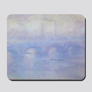 Waterloo Bridge by Claude Monet Mousepad