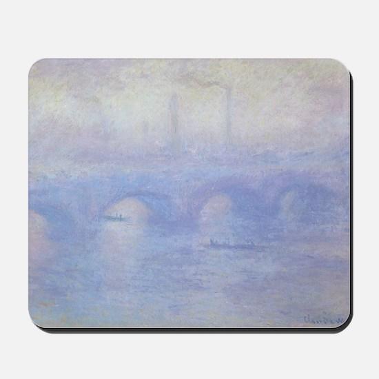 Waterloo Bridge by Claude Monet Mousepad