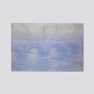 Waterloo Bridge by Claude Monet Rectangle Magnet