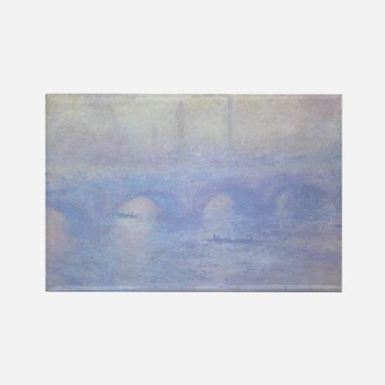 Waterloo Bridge by Claude Monet Rectangle Magnet