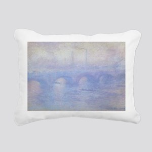 Waterloo Bridge by Claud Rectangular Canvas Pillow