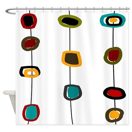 Mid Century Modern Shower Curtain By GailGabel